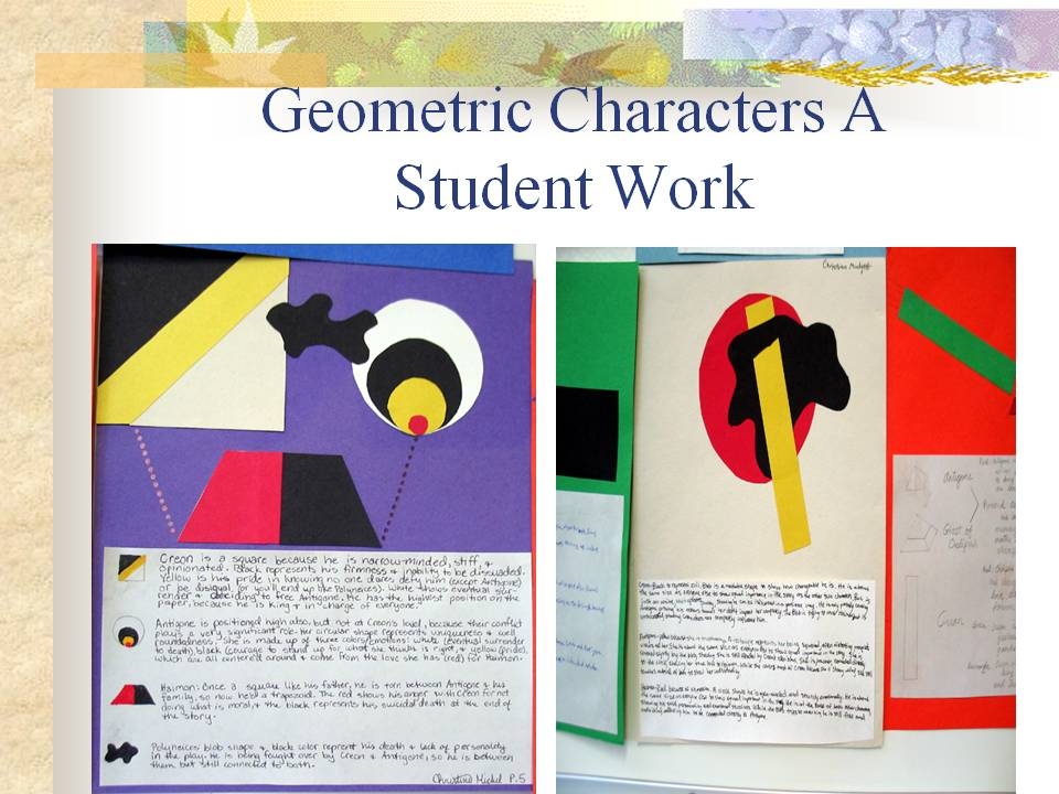 Geometric Character Analysis  Teaching English Language Arts