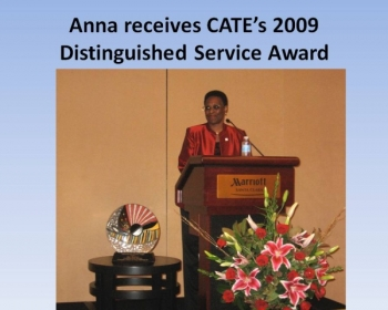 Anna Receives CATE DSA AWARD.JPG